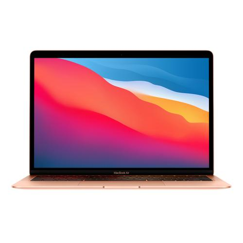 """Apple - APPLE MGND3LL/A MacBook Air 13.3"""" Gold Notebook Apple M1 Chip 8GB Unified RAM 256GB SSD (Latest Model)"""
