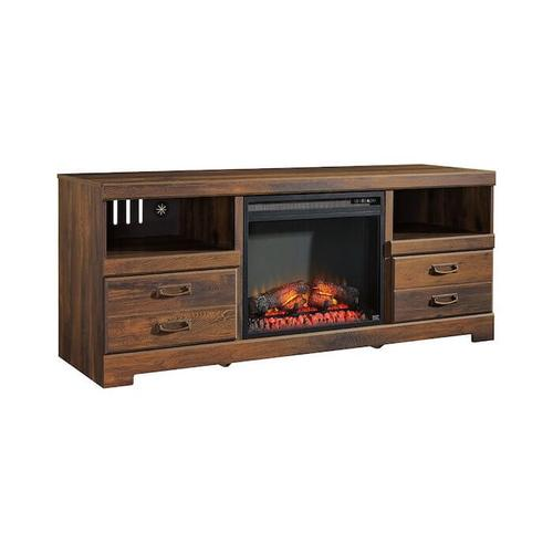 """Ashley Furniture - QUINDEN INFRARED MANTEL FIREPL - Quinden 60"""" TV stand with fireplace insert"""