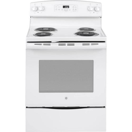 GE Appliances - GE 5.3-cu ft Self-Cleaning Freestanding Electric Range (White) (Common: 30-in; Actual: 30-in)