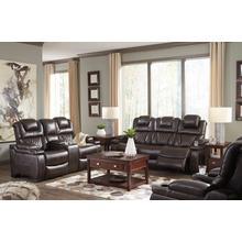 Warnerton- Chocolate Power Reclining Sofa and Loveseat w/ Adjustable Headrest