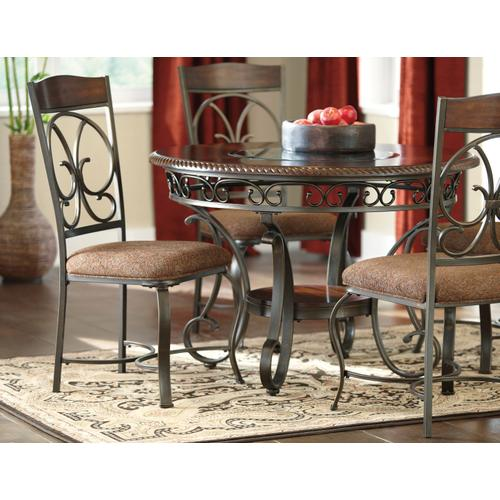 Glambrey - Brown 5 Piece Dining Room Set