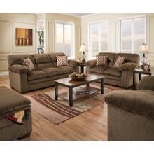 See Details - Harlow Chestnut 4PC Set: Sofa, Loveseat, Chair & Ottoman (3683)