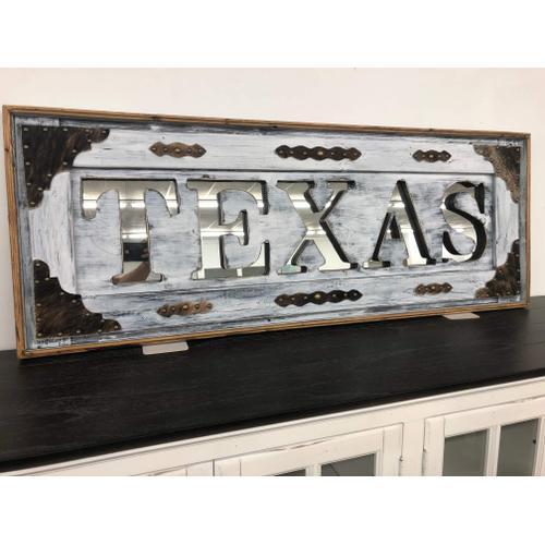 Texas Art - TEXAS MIRROR WHITE WASH