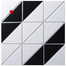 4 Railroad Pattern Black White Matte Porcelain Geometric Tile