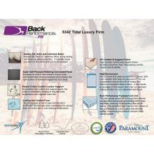 View Product - Back Performance - Tidal - Luxury Firm
