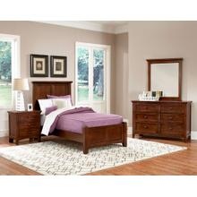 Twin Cherry 4 PC Bedroom Set - Panel Bed