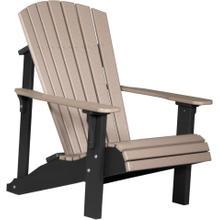 Deluxe Adirondack Chair Weatherwood and Black