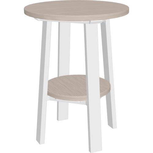 "Deluxe End Table 28"" Premium Birch and White"