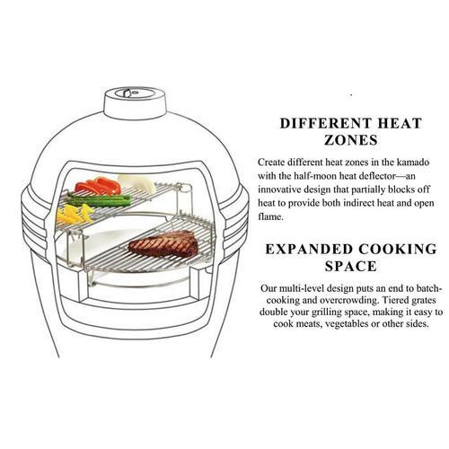 BigJoe Red w/ Cart, Side Shelves, Heat Deflector & Tools
