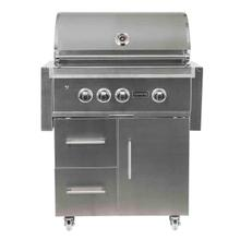 Coyote C2SL30LP-FS S-Series Built-In Propane Gas Grill on Cart, 30-Inches