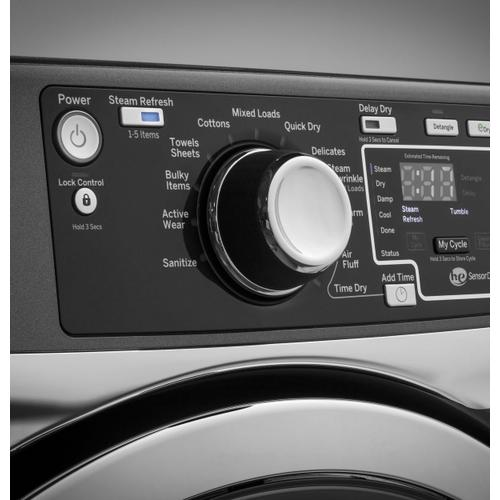 CLOSEOUT SPECIAL! RightHeight Front Load Washer/Gas Steam Dryer Pair - Diamond Gray Color -  Full Manufacturer Warranty - (Dryer GFD49GRPKDG - DL142796G) and (Washer GFW490RPKDG - FL107312G)