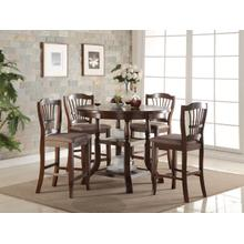 BIXBY COUNTER DINING ROOM SET: TABLE & 4 CHAIRS