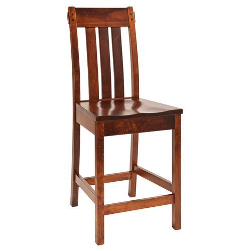 Amish Furniture - Solid Wood Bar Stool
