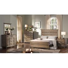 Lakeport 5/0 Queen Bedroom Set 4pc-(BED,DR,MR,NS)-Pewter