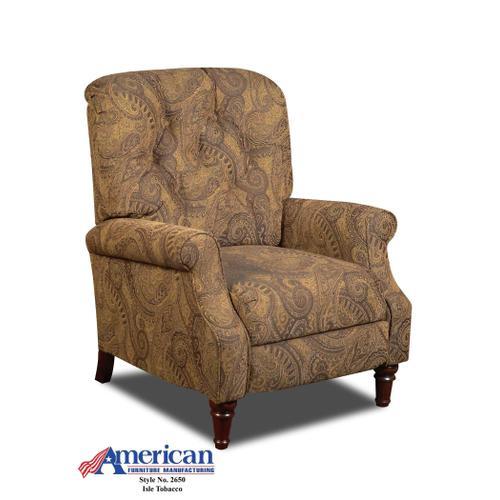 American Furniture Manufacturing - Isle Tobacco/Kiser Cappacino Recliner