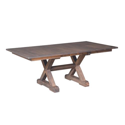 """Country Value Woodworks - 52"""" Crossway Extension Table"""