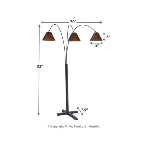 CLEARANCE Sharde Metal Arc Lamp