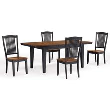 Slatback Chairs- Black & Oak