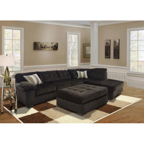 Kaylas Furniture - Revlon Barcelona Sectional Set - Brown