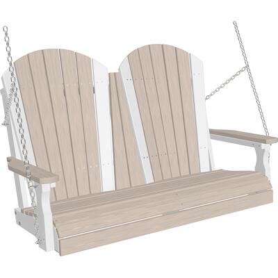 Adirondack Swing 4' Premium Birch and White
