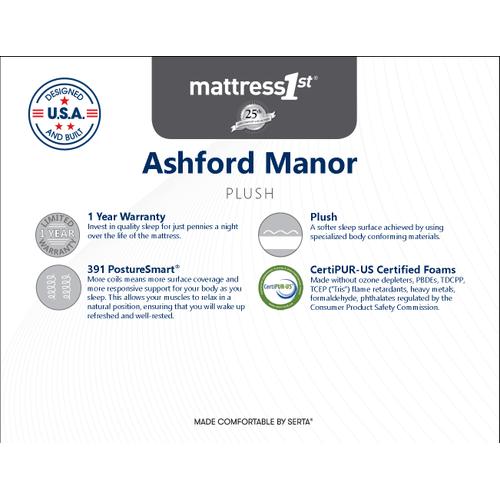 Ashford Manor Plush - Ashford Manor - Plush - Full Mattress Only
