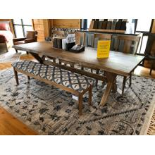 """See Details - 108"""" LIVE EDGE TABLE, 4 SIDE CHAIRS & UPHOLSTERED BENCH"""