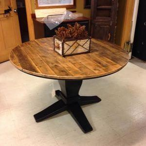 Locally Made Barnwood Pedestal Table