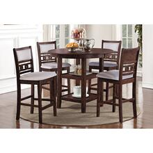 Gia 5 Piece Counter Height Dinette (Cherry Finish)