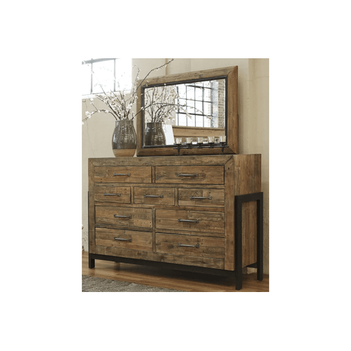 Sommerford - Brown - 7 Pc. - Dresser, Mirror, Chest, Nightstand & California King Panel Bed with Storage