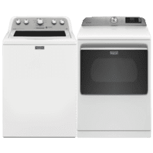 See Details - MAYTAG Top Load 4.3 cu. ft. High Efficiency Impeller Washer & 7.4 cu. ft. Smart Capable Electric Dryer- Open Box