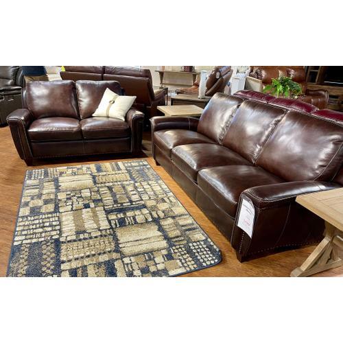 Simon Li Furniture - Stampede Coffee Leather Sofa & Loveseat