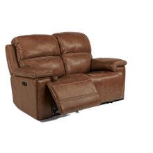 Fenwick Power Reclining Loveseat with Power Headrests - 204-72 Leather Vinyl