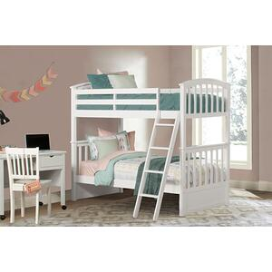Twin Over Twin Sidney Bunk - White