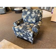 Charcoal Floral Club Chair