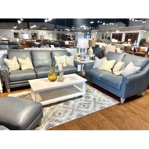 Simon Li Furniture - Luxe Sky Leather Sofa & Loveseat