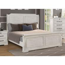 LIFESTYLE C8047AKB Gracie Antique Whitewash King Panel Sleigh Bed