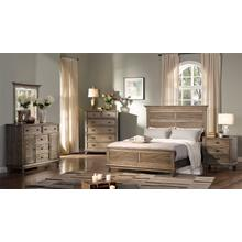 Lakeport 5/0 Queen Bedroom Set 5pc-(BED,DR,MR,NS,CH)-Pewter