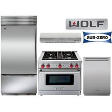 "30"" Gas Range Sub Zero And Wolf Package"