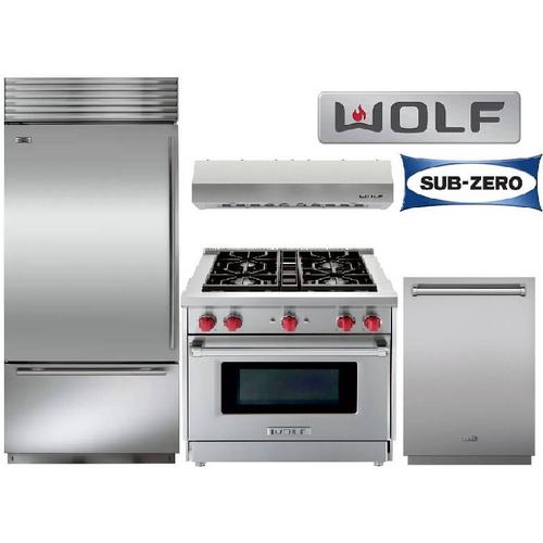 """30"""" Gas Range Sub Zero And Wolf Package"""