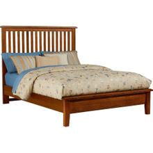Queen Amish Cherry Slat Bed