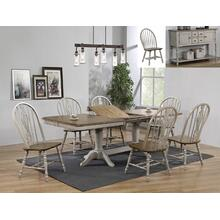 Crown Mark 1054 Jack Pedestal 9PC Dining Table