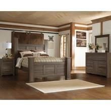 Juararo Queen Post Bed Dresser and Mirror