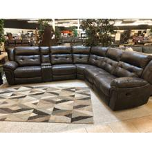 6PC Manual Reclining Sectional