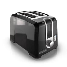 BLACK DECKER 2-Slice Extra-Wide Slot Toaster, Square, Black, T2569B