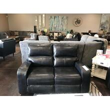 Black Leather Power Reclining Loveseat