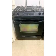 """View Product - USED- 30"""" Wide Slide-in Gas Range With Stainless Steel Doors and Sealed Burners- GASSLIDEINBL-U SERIAL #1"""