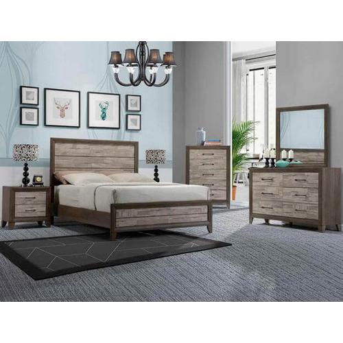 Jaren Qn Bed, Dresser, Mirror, Chest and Nightstand