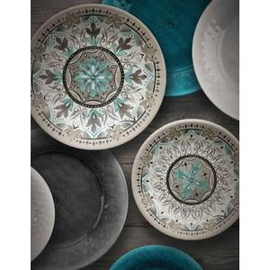 Tarhong - Potters Reactive Dinner Plate Gray Heavy Mold