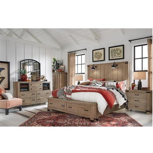 Magnussen Home - Queen Bed, Dresser, Mirror and Nightstand (KING AVAILABLE)