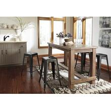 See Details - Dining Room Counter Table and Swivel Barstools w/ backs